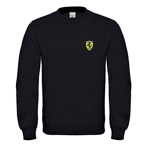 shirt Super La Broderies Qualité Sweat Prime 6080 Natshop2000 Ferrari Noir wq7IUqR