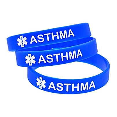DuDuDu Silicone Wristbands with Sayings Asthma Warning Words Rubber Wristbands for Kids Set Piecesbirthday Gift Estimated Price £25.99 -