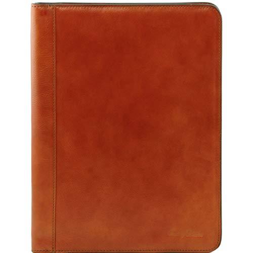 con Esclusivo anelli Tuscany pelle in Leather portadocumenti Moro Testa Miele Lucio di xn1BSwqR