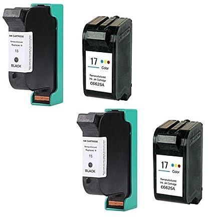 negro Prestige Cartridge HP 15 Pack de 2 cartuchos de tinta para HP DeskJet Serie