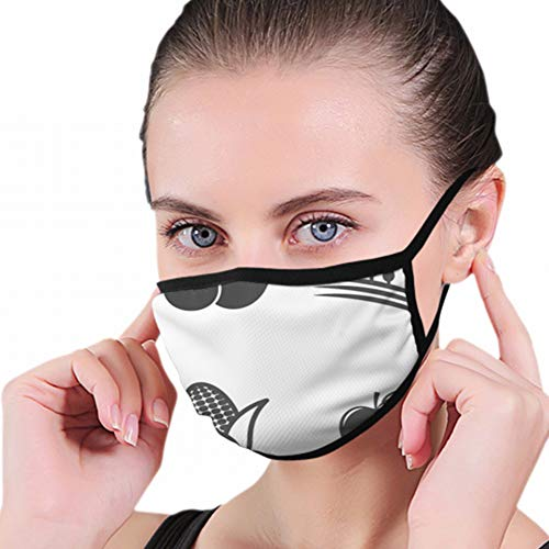 Agriculture Icons Mono Symbols Industrial Sheep Signs Washable Reusable Mouth Mask Cotton Anti Dust Half Face Mouth Mask For Men Women Dustproof With Adjustable Ear Loops from Cool pillow