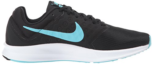 Femmes Nike Downshifter 7 Noir / Polarisée Bleu-blanc