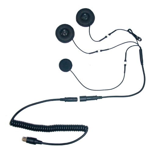 IMC Motorcom HS-B110P 6 Pin Stereo Headset with Soft Wire Microphone for BMW & 6 Pin CB (Mini Din) ()