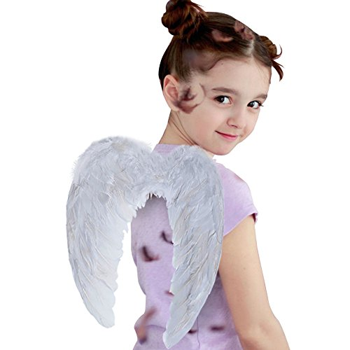 Angel Wing Feather Halloween Costume Party, Cosplay Christmas Wings for Kids Children, White Small