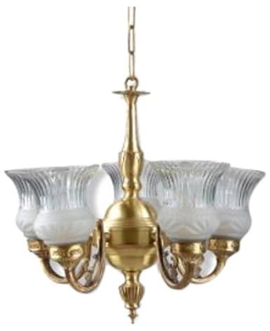 Buy fos lighting usha antique brass finish 5 light chandelier online fos lighting usha antique brass finish 5 light chandelier aloadofball Image collections