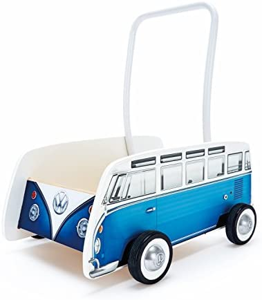 Hape Kids Classical VW Bus Wooden Walker Blue