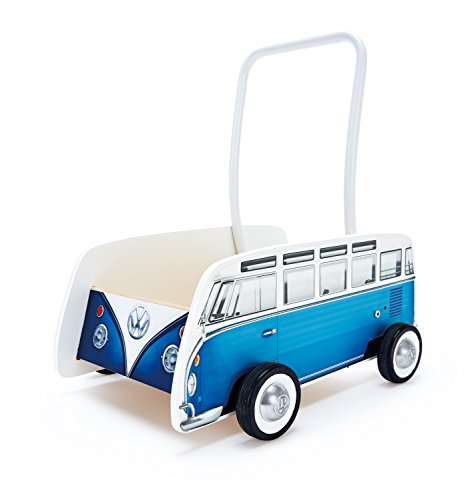 (Hape Kids Classical VW Bus Wooden Walker, Blue)
