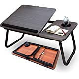 Highger Lap Desk - Fits up to 17 inches Laptop Desk for Bed and Sofa Portable Bed Trays for Eating Writing Reading Notebook Holder & Stand  Adjustable & Foldable