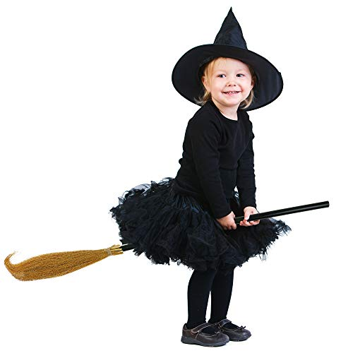 Skeleteen Witch Broomstick Costume Accessories - Realistic Wizard Flying Broom Stick Accessory for C - http://coolthings.us
