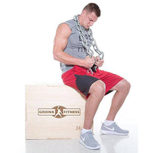 Gronk Fitness Wood Plyo Box w/ Bamboo Finish by Gronk Fitness Products