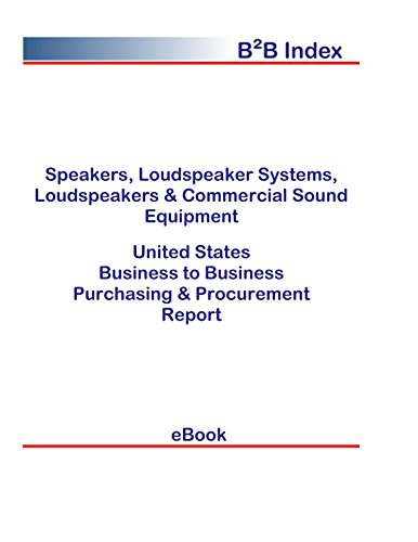 Speakers, Loudspeaker Systems, Loudspeakers & Commercial Sound Equipment B2B United States: B2B Purchasing + Procurement Values in the United States