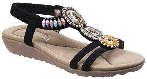 Sandals Slingback Various Black Foster Colour T Style Fleet Summer amp; Ladies Bar Kayo w0q0HXB