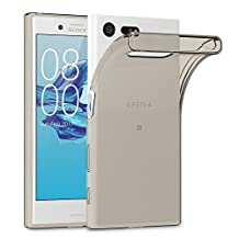 Xperia X Compact Cases, Terrapin Sony Xperia X Compact Cover - TPU Gel - Slim Design - Durable Shock Absorbing - Back Protector - Smoke Black