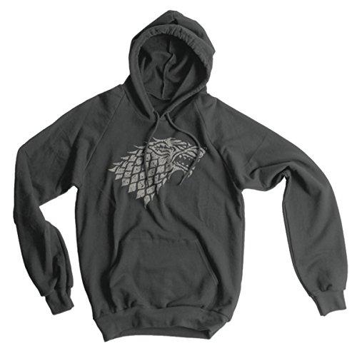 Stark Sigil American Apparel Hoodie, Asphalt, Large