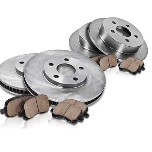 Callahan FRONT 311.8 mm + REAR 254.7 mm Premium Grade OE [4] Rotors + [8] Quiet Low Dust Ceramic Brake Pads Kit CK002784