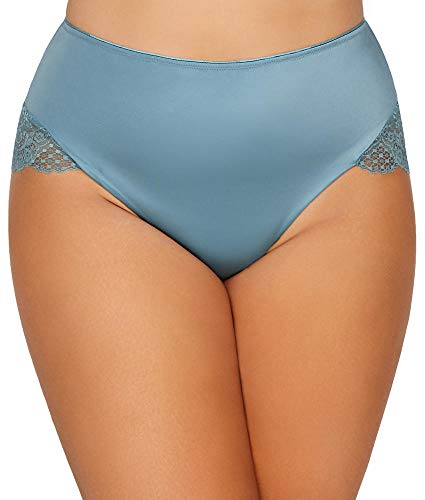 Curvy Couture Tulip Lace Hipster Panty (1169) 2X/Versailles Bleu