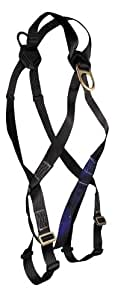 FallTech 7007LTDXL FT Basic Crossover Harness 2 D-Rings with Standard Mating Buckle Leg Straps, Extra Large