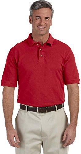 Harriton Womens Tall Ringspun Cotton Pique Short-Sleeve Polo (M200T) -RED -2XT