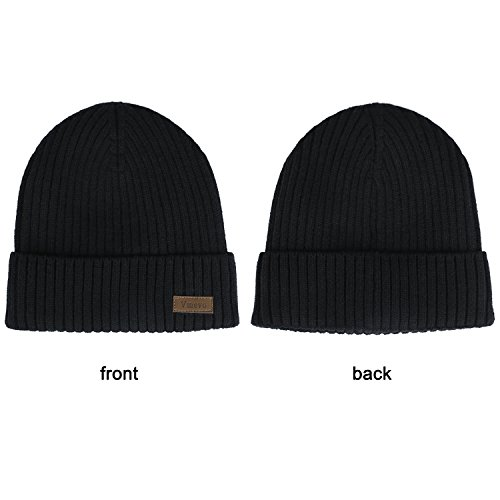 Vmevo Wool Cuffed Plain Beanie Warm Winter Knit Hats Unisex - Import It All 16d82bd07349