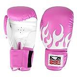 Luva de Boxe/muay Thai Bad Boy 16 Oz Feminina - Rosa+branco - Único