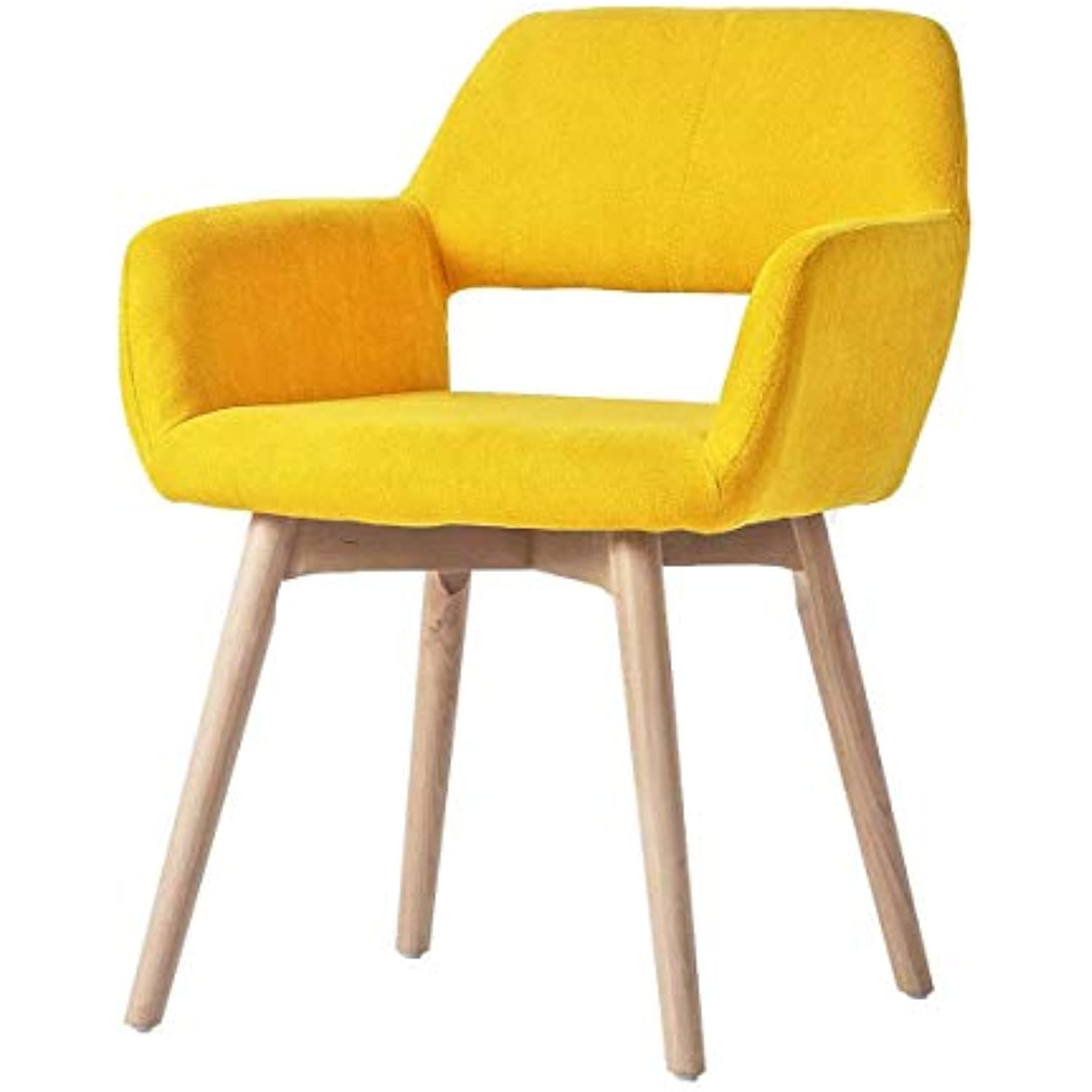 YEEFY Dining Chairs Set of 1 Modern Accent Living Room Chairs With Solid Wood Legs, Set of 1(Yellow)