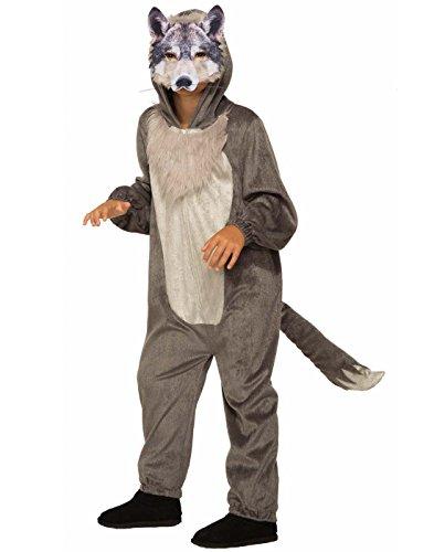 dcf369fe4 Forum Novelties Unisex-Children Wolf Jumpsuit and Mask Child's Costume,  Multi-Color, Large