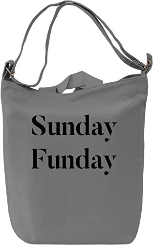 Sunday fun-day Borsa Giornaliera Canvas Canvas Day Bag| 100% Premium Cotton Canvas| DTG Printing|