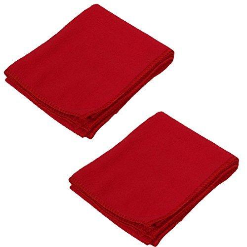 eDealMax Microfibre eau Serviettes Nettoyage Absorbent Voiture lavage Chiffon propre Longueur 68,5 cm 2pcs Rouge