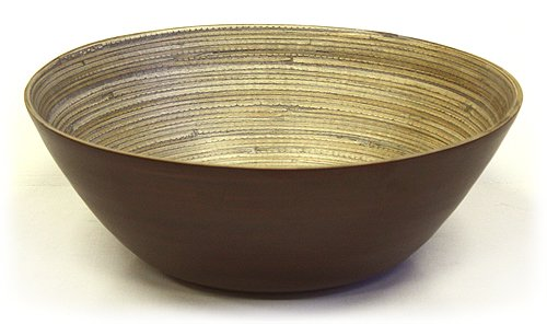 Simply Bamboo Matte Espresso Bamboo Bowl ()