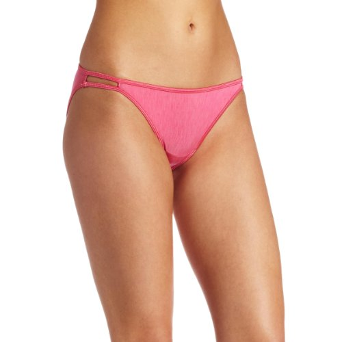 - Vanity Fair Women's Illumination String Bikini Panty 18108, Jane Grey Pink, Small/5