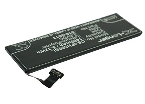 VINTRONS Rechargeable Battery 1400mAh For Apple 616-0610, 616-0611, P11GM8-01-S01, MD665LL/A, iPhone 5 16GB