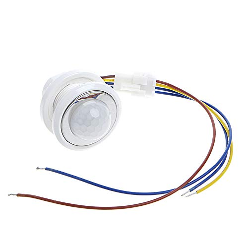Autone 40mm LED PIR Detector Infrared Motion Sensor Switch with Time Delay Adjustable