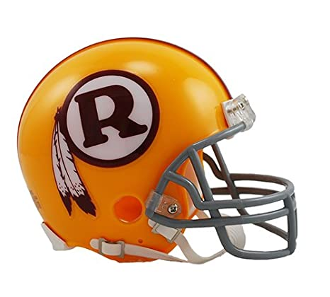 Amazon.com  Washington Redskins 1970-1971 Yellow Throwback Riddell Mini  Football Helmet - New in Riddell Box  Sports Collectibles 3f40868e6