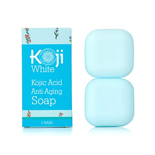 Kojic Acid Anti-Aging Soap (2.82 oz / 2 Bars) - Moisturizing & Hydrating Soap for Younger-Looking Skin - Idea for Dark Spots