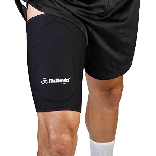 McDavid Classic 472 Level 1 Thigh Sleeve with Anterior Patch (Black) Small by McDavid