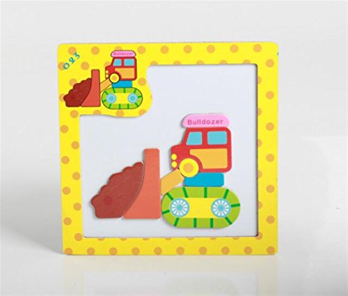 Sevenpring Child Learning Puzzle Wooden Magnetic Peg Puzzle Safe Education Learning Toy Fantastic Gifts for Kids(Bulldozer) ()