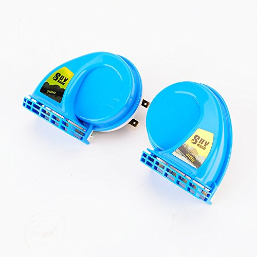 Price comparison product image 1 pair SUV Super Loud Snail Horn blue / SUV Air Siren Speeker 12V Car Alarm Sound horn Waterproof