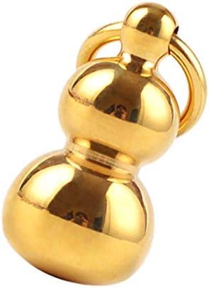 真鍮ひょうたん DIYキーリング キーチェーン チャーム ペンダント クラフト アクセサリー