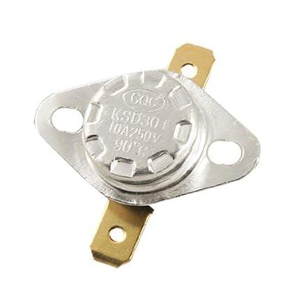 2 Pcs KSD301 NC 90 Celsius interruptor de controlo de temperatura do termostato de CA de