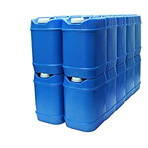 5-Gallon Stackable Water Containers (20 total gallons), Emergency Water Storage Containers, BPA free, high density polyetholene …