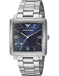 Emporio Armani Mens Dress Quartz Stainless Steel Casual Watch, Color:Silver-Toned (Model: AR11072)
