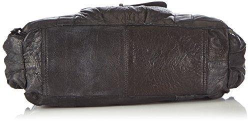 PIECES TOTALLY ROYAL LEATHER SMALL BAG13 - Bolso de hombro de cuero mujer Negro (Black)