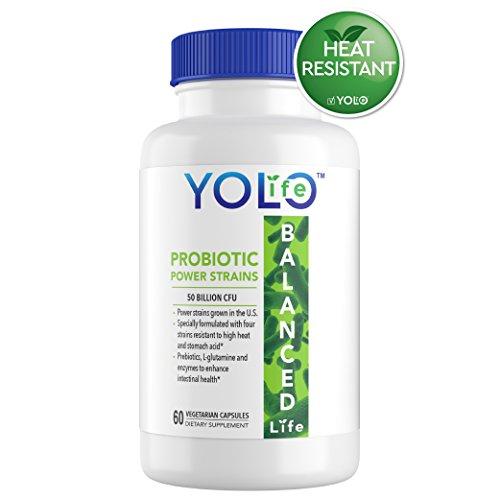 Cheap YOLO Life™ Probiotic Supplement | 50 Billion CFU | Heat Resistant Potent Power Strains | Survives Stomach Acid | 60 Veggie Capsules | with Prebiotics