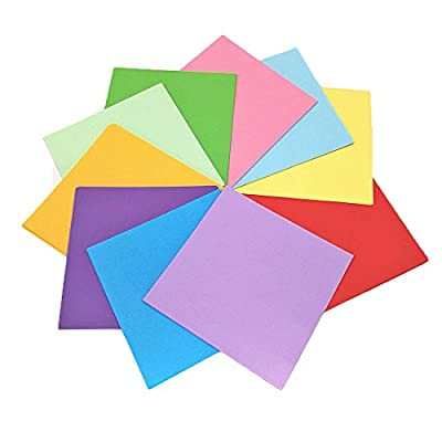 Antner 200 Sheets Interesting Single-Sided, Double-Sided Origami,6-Inch by 6-Inch with 10 Colors