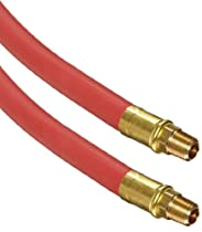 Continental ContiTech Frontier Red EPDM Rubber Multipurpose Hose Assembly, 200 PSI Maximum Pressure, 50' Length, 1/4