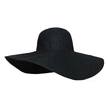 38ba50ff197 ETGtek(TM) Summer Foldable Wide Large Brim Beach Sun Hat Casual Vacation  Travel Straw