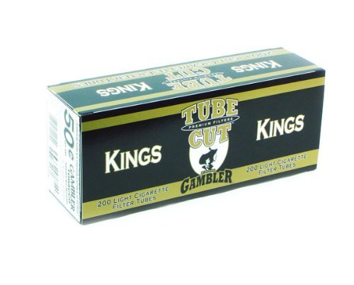 GAMBLER CIGARETTE TUBES KING LIGHT 50ct CASE- NEW by Gambler