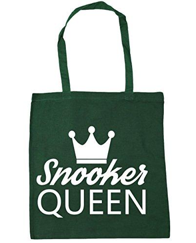 HippoWarehouse billar Reina bolsa de la compra bolsa de playa 42cm x38cm, 10litros verde oscuro