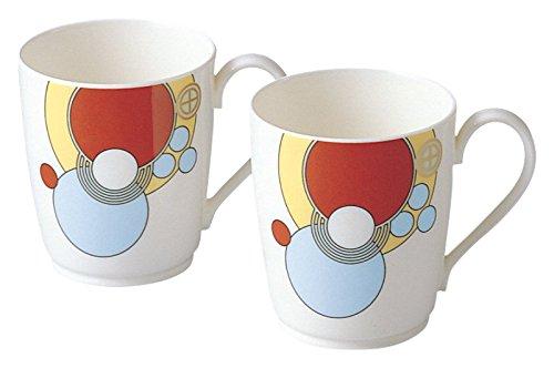 bone china Frank Lloyd Wright design tableware mugs pair set  (japan import) - Noritake P97280/4614