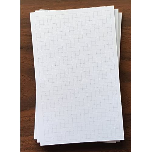 "3 PADS - Graph Note Pad, 5"" x 8"", 50 Sheets, 1/4"" Grid Spacing, Heavyweight Paper supplier"
